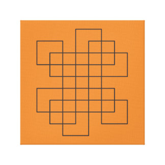 Maze on Orange Canvas Print