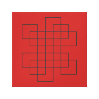Maze on Red Canvas Print