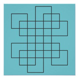 Maze on Robin's Egg Blue Poster