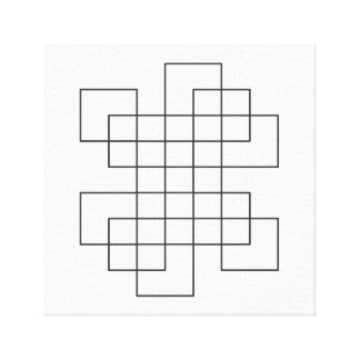 Maze on White Canvas Print