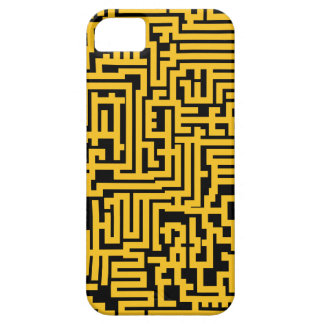 Maze Pattern iPhone Case - Black and Gold