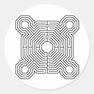 maze, Reims Labyrinth Sticker