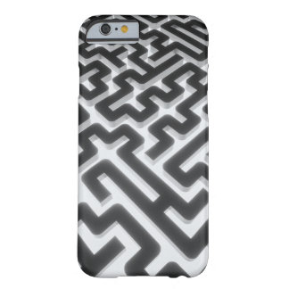 Maze Silver Black Barely There iPhone 6 Case