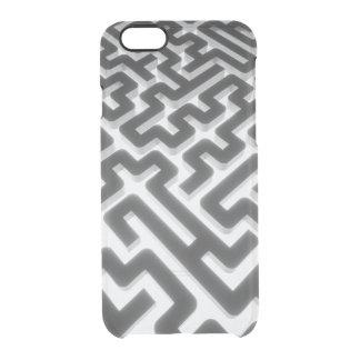Maze Silver Black Clear iPhone 6/6S Case