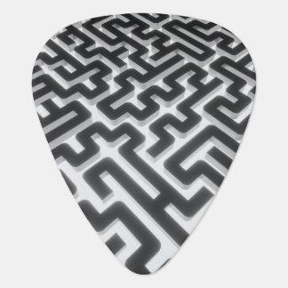 Maze Silver Black Guitar Pick