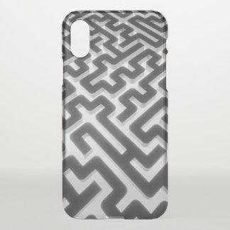 Maze Silver Black iPhone X Case