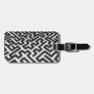 Maze Silver Black Luggage Tag