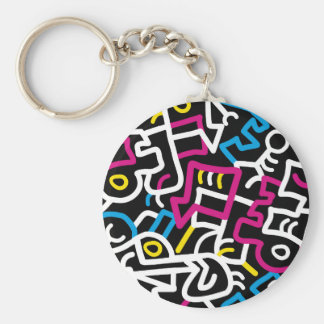 Mazed and Confused Basic Round Button Keychain