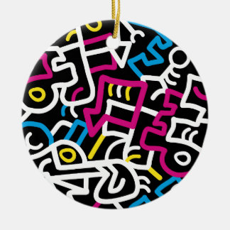 Mazed and Confused Ceramic Ornament