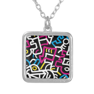 Mazed and Confused Silver Plated Necklace