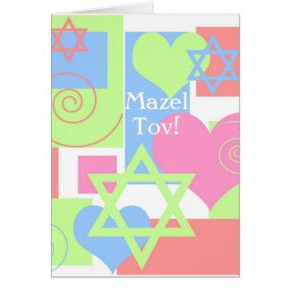 Mazel Tov!-Bat Mitzvah Colorful Fun Card