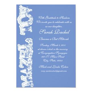 Mazel Tov Blue Invitation