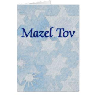 Mazel Tov Blue Stars Card