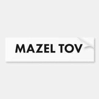Mazel Tov Bumper Sticker
