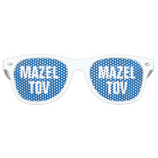 MAZEL TOV funny party shades for bar mitzvah