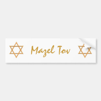 Mazel Tov/Star of David Car Bumper Sticker