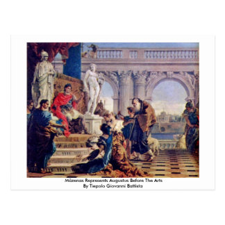 Mäzenas Represents Augustus Before The Arts Postcard