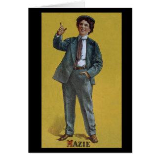 Mazie Trumbull vintage trans vaudeville image Card