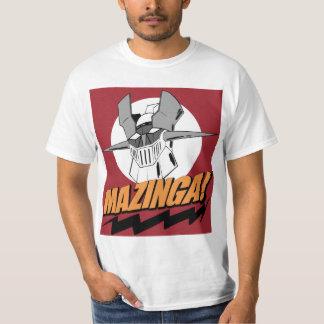 Mazinga! I'm a cheap nerd white t-shirt