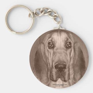 Mazy the Bloodhound by thoriinspired Basic Round Button Keychain