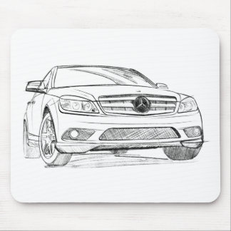 MB C350 sketch Mouse Pad
