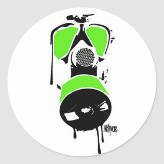 MB Green & Black Gas Mask Stickers