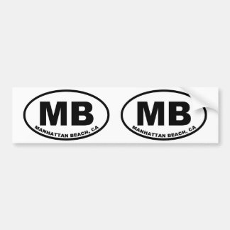 MB Manhattan Beach Bumper Sticker