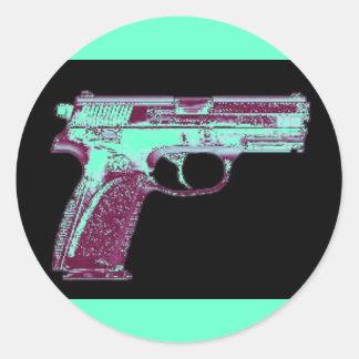 MB Pink Gun Stickers