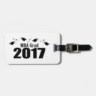 MBA Grad 2017 Caps And Diplomas (Black) Luggage Tag