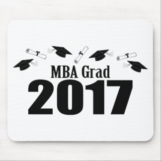 MBA Grad 2017 Caps And Diplomas (Black) Mouse Pad