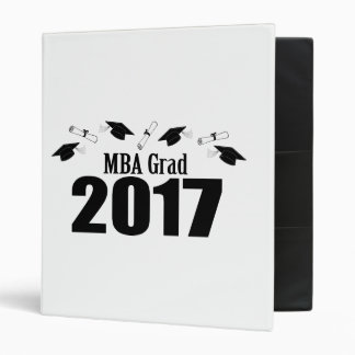 MBA Grad 2017 Caps And Diplomas (Black) Vinyl Binder
