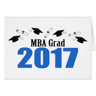 MBA Grad 2017 Caps And Diplomas (Blue) Card