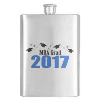 MBA Grad 2017 Caps And Diplomas (Blue) Flasks