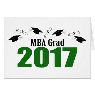 MBA Grad 2017 Caps And Diplomas (Green) Card