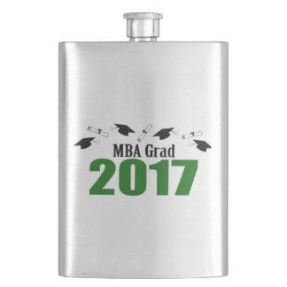 MBA Grad 2017 Caps And Diplomas (Green) Flask