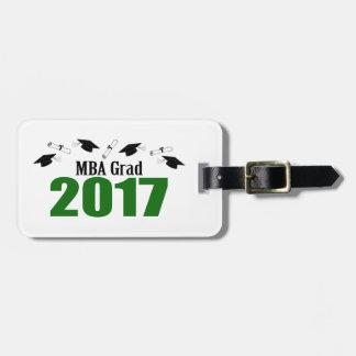 MBA Grad 2017 Caps And Diplomas (Green) Luggage Tag