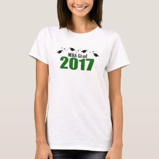 MBA Grad 2017 Caps And Diplomas (Green) T-Shirt