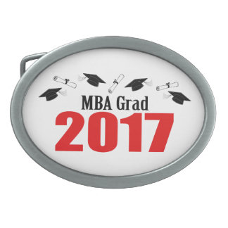 MBA Grad 2017 Caps And Diplomas (Red) Belt Buckle