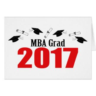 MBA Grad 2017 Caps And Diplomas (Red) Card