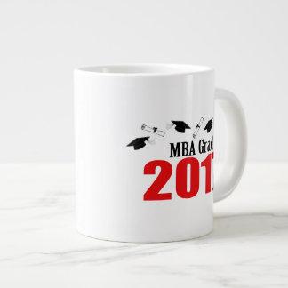 MBA Grad 2017 Caps And Diplomas (Red) Giant Coffee Mug
