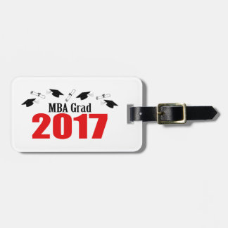 MBA Grad 2017 Caps And Diplomas (Red) Luggage Tag