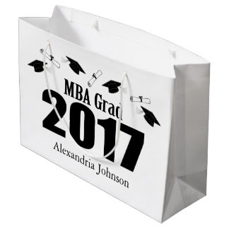 MBA Grad 2017 Graduation Gift Bag (Black)