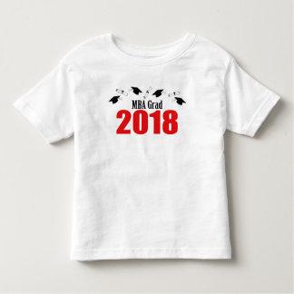 MBA Grad Caps And Diplomas 2018 (Red) Toddler T-shirt