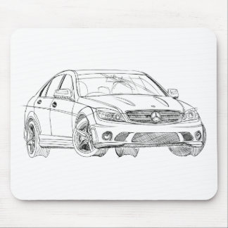 MBAMG C63 2008 MOUSE PAD