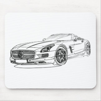 MBAMG SLS Roadster 2012 Mouse Pad