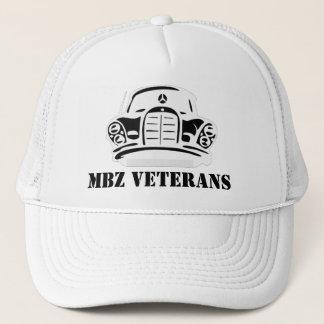 MBZ Veterans Hat White Stencil