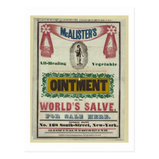 McAlister's All-Healing Vegetable Ointment Advert Postcard