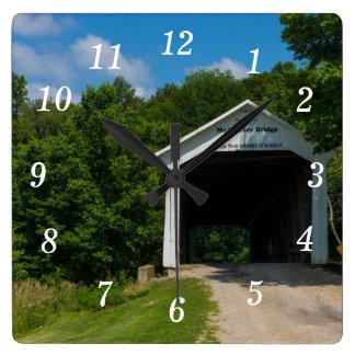 McAllister Bridge Square Wall Clock