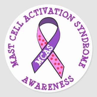 MCAS Mast Cell Activation Syndrome Awareness Classic Round Sticker