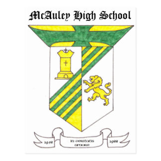 McAuley High School Coat of Arms Postcard